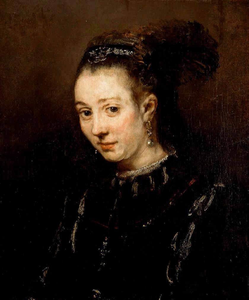 Rembrandt, portrait d'une jeune femme, 1668, Musée des beaux-arts de Montréal