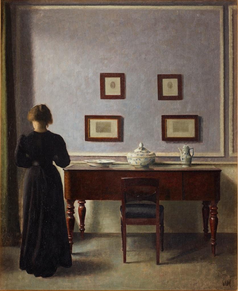 Vilhelm Hammershøi, «Intérieur avec quatre gravures» (1905) AGO