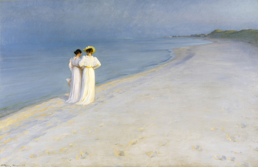 Peder Severin Krøyer «Anna Ancher et Marie Krøyer sur la plage de Skagen» 1893