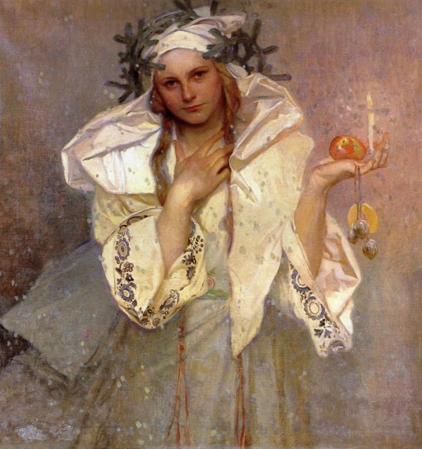 Alphonse Mucha «Christmas in America» 1919